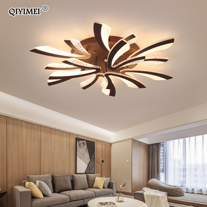 Image 5 - Modern LED ceiling chandelier lights for living room bedroom Dining Study Room White Black Body AC90 260V Chandeliers Fixtures