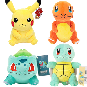 Pikachued Charmander Squirtle Bulbasaur Eevee elf anime plush toys pokemoned Dragonite Snorlax Mew cute stuffed doll Kids gifts