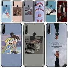 MayDaysmt Holding hands Black TPU Soft Rubber Phone Cover For Huawei Y5 Y6 Y7 Y9 Prime Pro II 2019 2018 holding hands