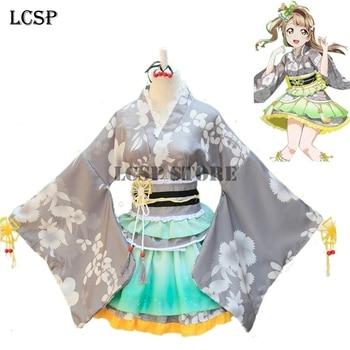 LCSP miłość na żywo! Kotori Minami Yukata Cosplay kostium japoński Anime miłość na żywo Kimono jednolity pełny zestaw odzież