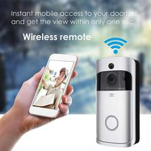WiFi Smart Video Doorbell Camera Wireless Door Bell 720P HD Wireless Home Security Doorbell Camera Smart Home Appliances cheap Electric Supply Photograph Color ABS Plastic Electronic Component Silver 144x74 5x32 3mm 1280x720 166° 2 x 18650 Batteries