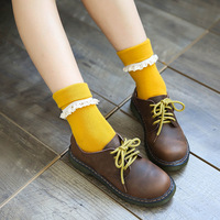12pairs Autumn Winter New Japanese Breathable Cotton Solid Color Female Socks Student Socks G0829