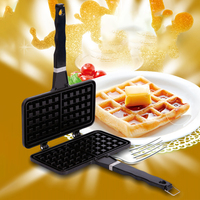 Rectangle Aluminum Alloy Breakfast Mold Stove Top Baking Pan Cake Maker Press Plate Making Tool Non Stick Kitchen Waffle Iron|Waffle Molds|Home & Garden -