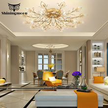 France Classical Ceiling Lights Modern LED Luxury Crystal Ceiling Lamp Hotel Dining Room Ceiling Light Lustre Lighting Ceiling
