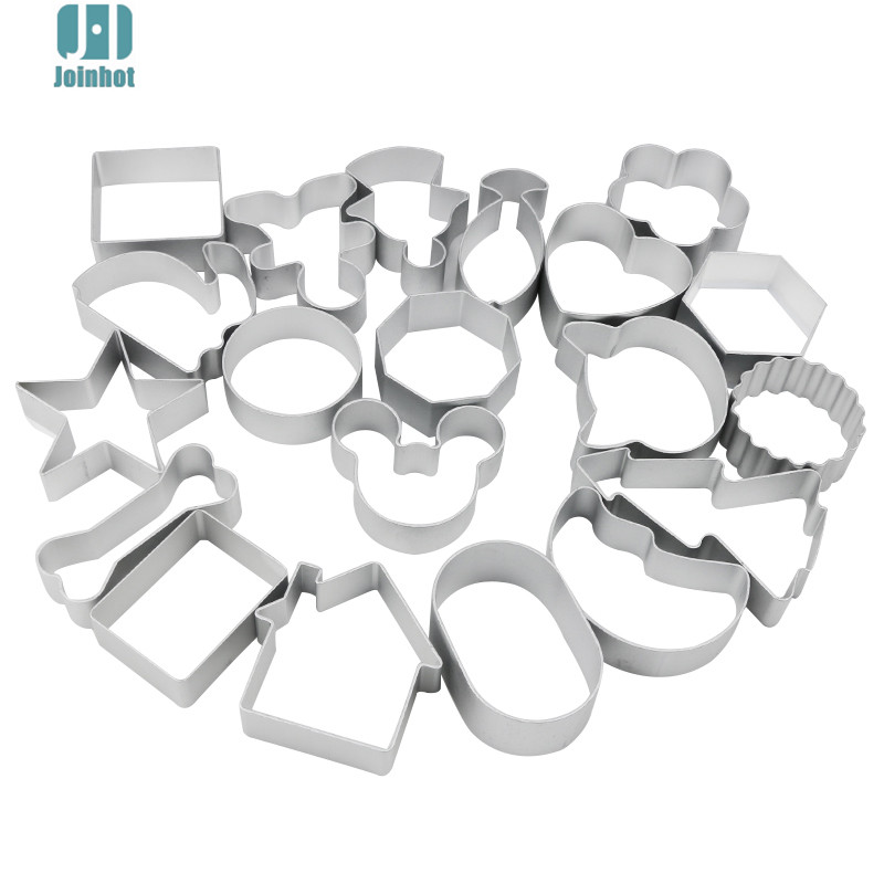 dropshipping Cute cartoon apple Shape Cookie Frame Cake Aluminum Alloy Mold DIY Cooking Metal Cutter 44 designs
