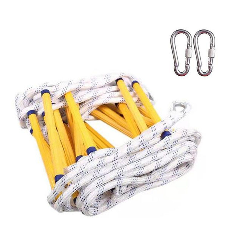 Emergency Fire Ladder Safety Rope Escape Ladder with Carabiners Lifesaving Rock Climbing Home Engineering Rescue Rope Ladder