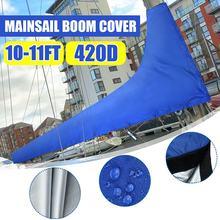 8 11Ft 3m/3.5m 420D ראשי בום כיסוי סירת כיסוי עמיד למים אנטי UV Windproof שמשיה מפרש כיסוי אנטי שריטה Dustproof כיסוי