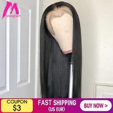 Perruque Lace Front Wig brésilienne naturelle, cheveux courts lisses, couleur naturelle, 28 30 40 pouces, pre-plucked, bon marché pour femmes noires