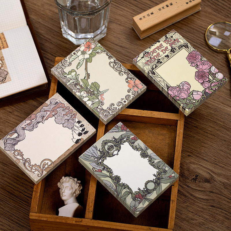 Vintage Secret Garden Series Planner Sticky Notes Kawaii Stationery Cute Memo Pad Notepad Office Decoration Office Supplies