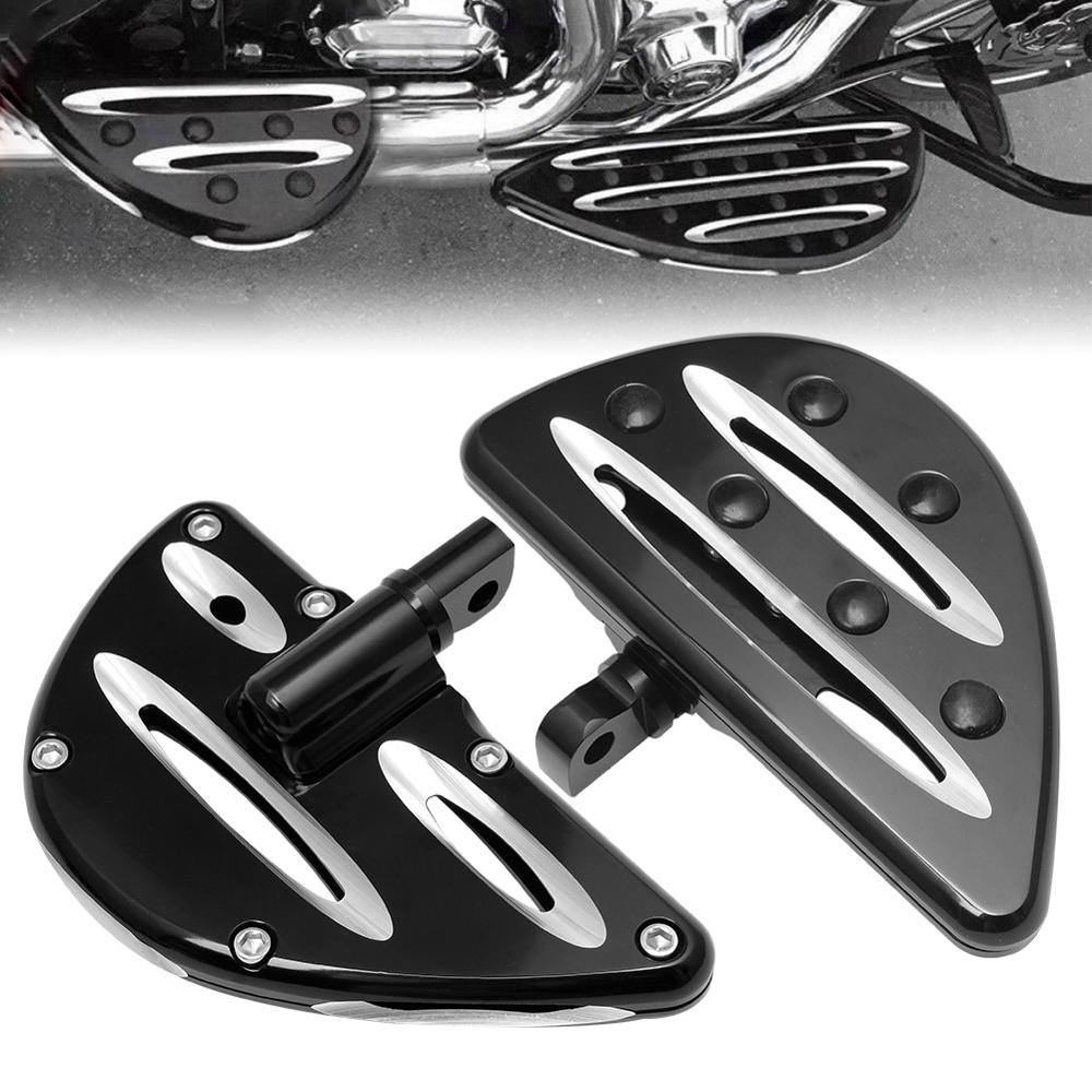 Stretched Floorboards Rear Passenger Floor Board Foot Rest For Touring Road King
