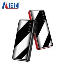 50000mah banco de potência portátil grande capacidade espelho completo lcd display digital led iluminação ao ar livre carregador viagem telefone bateria