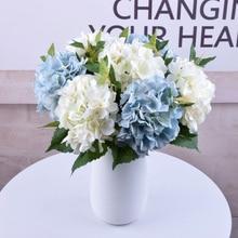 Одна картина маслом Гортензия 46 см Высокое качество имитация шелка цветок окно дома Свадебные украшения искусственный цветок