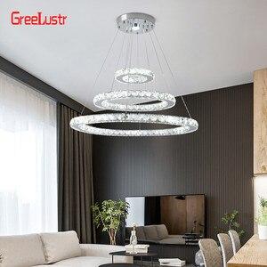 Image 3 - Modern K9 Crystal Led Chandelier Lights Home Lighting Chrome Lustre Chandeliers Ceiling Pendant Fixtures  For Living Room