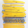 600pcs/lot 30Values* 20pcs 1% 1/4 W resistor pack set diy Metal Film Resistor kit use colored ring resistance (10 ohms~1 M ohm)