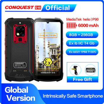 S16 ATEX Explosion-proof IP 68 Smartphone Helio P90 48MP Triple Cameras Zello PTT walkie talkie Intrinsically safe mobile phone цена 2017