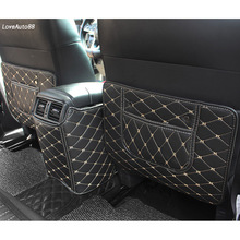 цена на Car Rear Seat Anti-Kick Pad Rear Seats Cover Back Armrest Protection Mat For Nissan X-Trail X trail 2019 2018 T32 Accessories