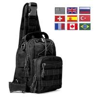 Bolsa de hombro táctica militar 600D EDC, mochila de viaje al aire libre, impermeable, senderismo, Camping, caza, Ejército de camuflaje