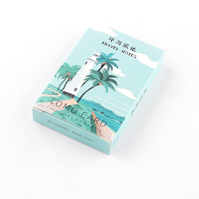 28 Pcs/Set 52*80mm Creative Travel Notes Lomo Card DIY Hand Painted Mini Postcard Birthday Gift Card Message Card