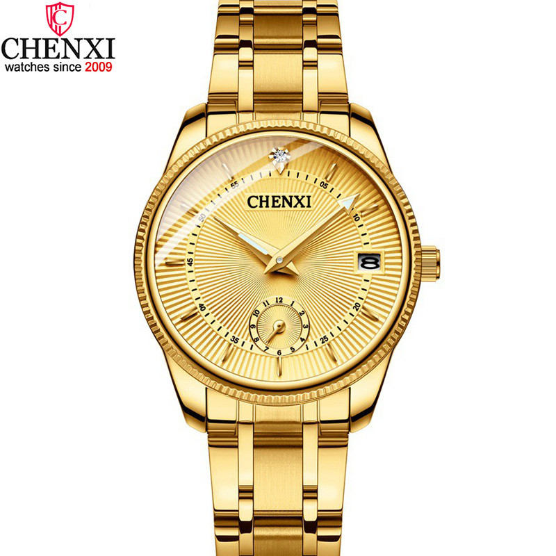 CHENXI Luxury Golden Lady Watch Top Brand Minimalism Calendar Waterproof Quartz Women s Watch Business Dress Clock 069IPG