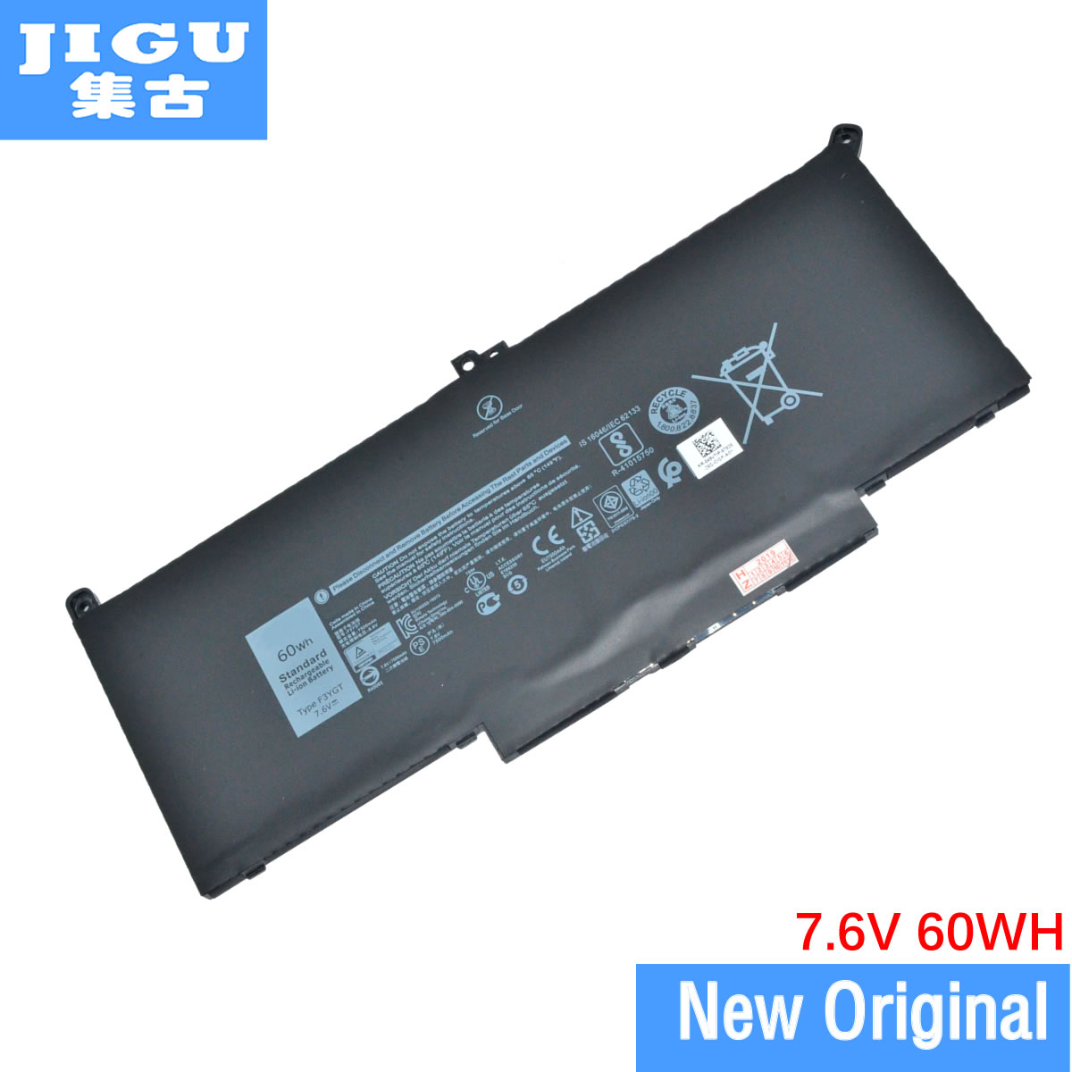 JIGU Original Laptop Battery 2X39G F3YGT For <font><b>DELL</b></font> For Latitude 12 7000 7290 13 7000 7390 7380 <font><b>7490</b></font> 7.6V 60WH image