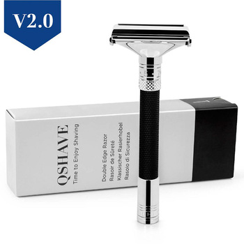 QShave New Design Luxurious Parthenon V2.0 Razor Butterfly Open Adjustable Safety Classic for Superb Mens Shaving Razor Barber