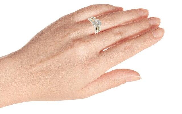 14K Yellow Gold Ring Natural White 2 Carats Moissanite Jewelry Gemstone for Women Anillos De Bizuteria Wedding 14K Gold Jewelry