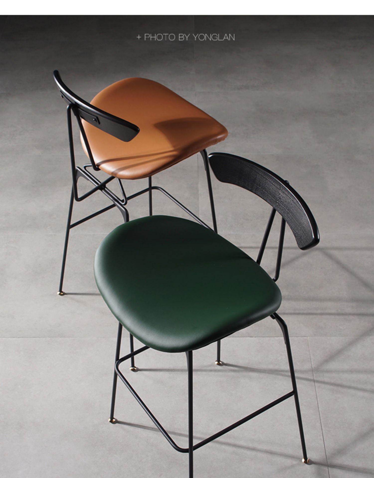 Hot Sale #0011 Iron Bar Chair Nordic High Chair Bar Stool