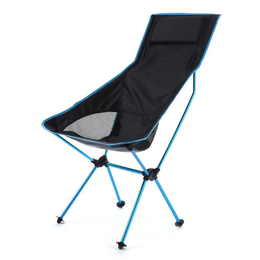 Lightweight Portable Camping Chair Outdoor Folding Backpacking High Back Camp Chairs With Headrest For Picnic Beach Hiking