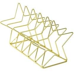 Złoty S kształt galwanicznie Bookend organizer na biurko pulpit biuro strona główna Bookends stojak na książkę stojak na książki kreatywny regał do przechowywania na
