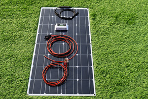 Image 4 - 100 واط 200 واط مرنة نظام لوحات شمسية 10A/20A وحدة تحكم لسيارة RV قارب سقف المنزل التخييم 12 فولت 24 فولت شاحن بطارية