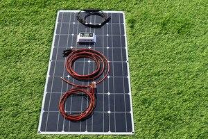 Image 4 - 100W 200Wแผงพลังงานแสงอาทิตย์ที่มีความยืดหยุ่นระบบ10A/20A ControllerโมดูลสำหรับเรือRVเรือหลังคาบ้านCamping 12V 24V
