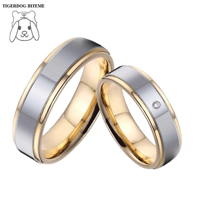 Custom Tailor Jewelry Yellow Gold Plating Titanium Engagement