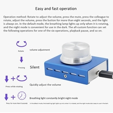 핫 3C Usb 볼륨 컨트롤, 무손실 Pc 컴퓨터 스피커 오디오 볼륨 컨트롤러 노브, 조절기 디지털 컨트롤 (하나의 키 음소거 포함)