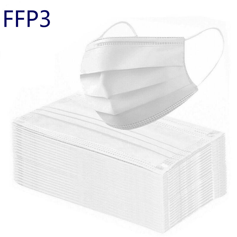 1/3Pcs Disposable Mouth Mask FFP3 Mask Breathable N95 KN95 3layer Non-woven Fabric Protective Face Mask PM2.5 Anti Dust Mask New