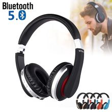MH7 Wireless Headphones Bluetooth 5.0 Headset Foldable Stereo Gaming Earphones With Microphone Support TF Card For All Phone wireless headphones bluetooth headset foldable stereo gaming earphones with microphone support tf card for ipad mobile phone mp3