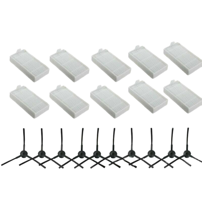 20PCS Replacement Filters Brush Accessories Compatible For ILIFE V3S V3S Pro V5 And V5S V5S Pro Robot Vacuum