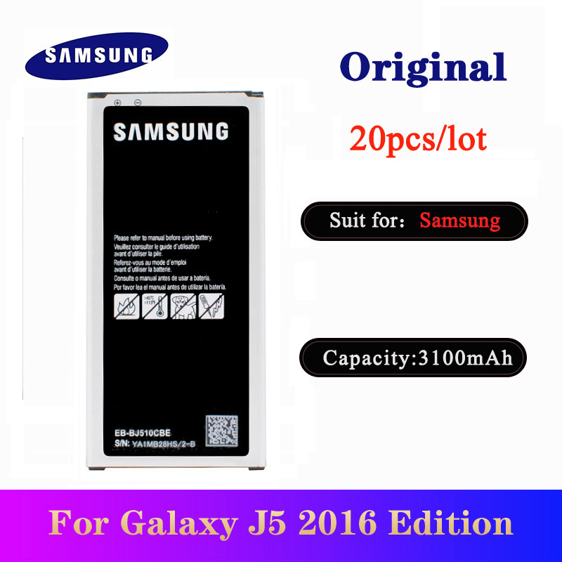 20pcs/lot Battery EB-BJ510CBE For <font><b>Samsung</b></font> Galaxy <font><b>J5</b></font> 2016 Edition J510 J510FN J510F J510G Original High Quality <font><b>Bateria</b></font> 3100mAh image