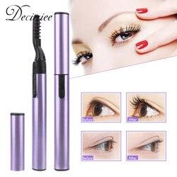 1PC Portable Electric Eyelashes Brush Heated Eyelash Curler Pen Shape Mascara Long Lasting Curling Makeup Beauty Cosmetic Tools