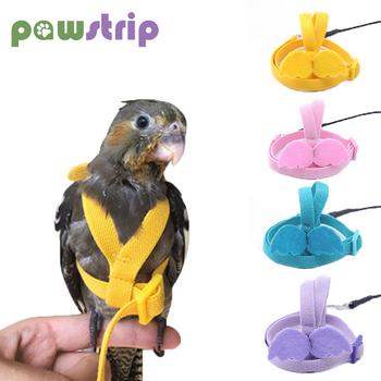 Regulowane szelki dla ptaków papuga smycz trening na świeżym powietrzu rozwijana smycz dla papugi piwonia Anti-bite trening na świeżym powietrzu rozwijana smycz tanie i dobre opinie CN (pochodzenie) Latex Wire DM6452 Parrot Birds Harness Leash Purple Yellow Blue Pink As Picture Outdoor Training Traction Rope