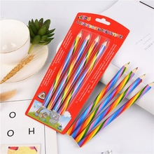 4 PCS Rainbow Colored Pencils for Kids Assorted Colors for Drawing Coloring Sketching Pencils For Drawing Stationery X3UE