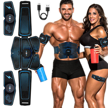 EMS Muscle Stimulator Trainer Smart Fitness Abdominal Training Electric Weight Loss Stickers Body Slimming Belt Unisex