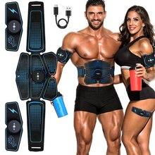 Стимулятор мышц EMS, умный фитнес тренажер для брюшного пресса, электрические наклейки для похудения, пояс для похудения унисекс