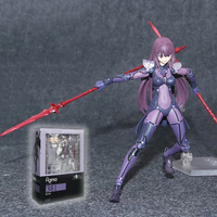 Fighting Girl Anime Figure Fate Grand Order Lancer Scathach Figma #381 PVC Action Figure Collectible Model Toy Gift 14cm