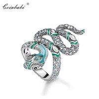 Кольца длинные змея 925 пробы серебро Богемия подарок для женщин, 2020 весна новый бренд кольца Томас TS модные ювелирные изделия