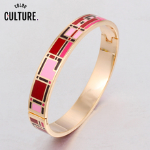 Vintage Jewelry Color Design Opening Bracelet Bangle for Wom