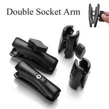 Короткий длинный двойной кронштейн 65 мм/95 мм для 1 дюймовых шариковых оснований для камеры Gopro, велосипеда, мотоцикла, телефонный держатель д...