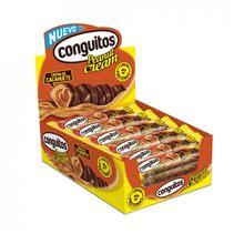 Conguitos Peanut Cream Estuche 414 gramos y 18 barritas bañadas en chocolate con leche y rellenas de crema de cacahuete