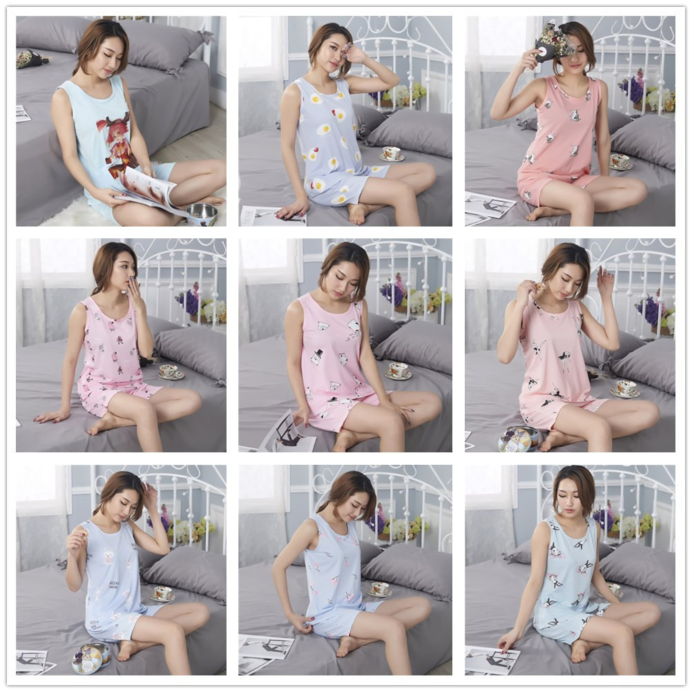 According To Feminine Summer New Style Qmilch Vest Suit Cute Cartoon Female Youth Piece Sexy Home Wear