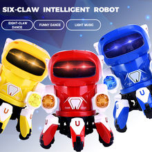Dance Robot Electronic Walking Toys 360 Rotating Smart Intelligence Music Light Kids Educational For Toy Christmas Birthday Gift(China)