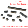 10 шт. 2X2P/4P/6P/8P/10P/16P/20P/40P PIN двойной прямой ряд штыревой разъем 1,27 мм разъем 8/10/16/20/40